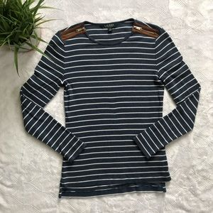Ralph Lauren Fitted Striped Pullover Shirt